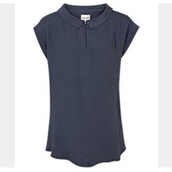 3c41ec61f0398d Reiss Constance shirt collar blouse women s navy 6.  M 5bda0f09194dad4ad1aef2f0